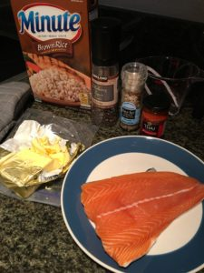 Salmon, pre-cooked, with rice & spices